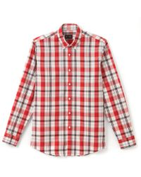 La Redoute - Regular Fit Checked Cotton Shirt - Lyst