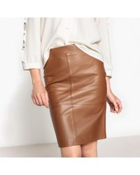 La Redoute - Leather Pencil Skirt - Lyst