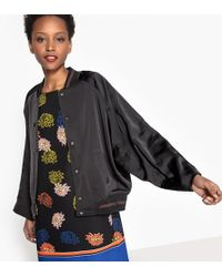 La Redoute - Satin Bomber Jacket With Batwing Sleeves - Lyst