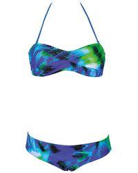 Arena - Printed Bandeau Bikini - Lyst
