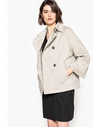 La Redoute - Short Trenchcoat With Batwing Sleeves - Lyst