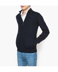 La Redoute - Wool Blend Zip Up Cardigan - Lyst