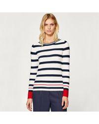 Esprit - Striped Crew Neck Jumper/sweater - Lyst