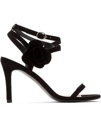 La Redoute - High-heeled Sandals With Flower Detail - Lyst