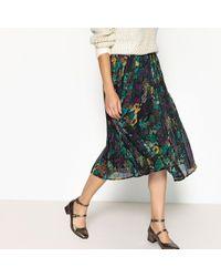 See U Soon - Pleated Floral Print Midi Skirt - Lyst