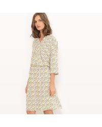 La Redoute - Triangle Print Crossover Dress - Lyst