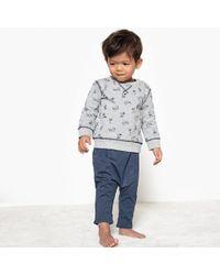 La Redoute - Crew Neck Printed Sweatshirt, 1 Month-3 Years - Lyst