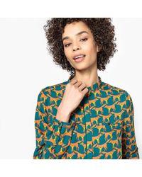 La Redoute - Long-sleeved Fox Print Shirt - Lyst