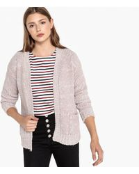 Best Mountain - Long-sleeved Cardigan With Patch Pockets - Lyst