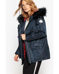 La Redoute - Parka With Faux Fur Hood - Lyst
