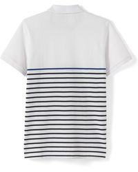 La Redoute - 100% Cotton Striped Piqué Knit Polo Shirt - Lyst