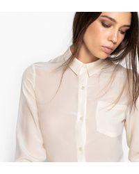 La Redoute - Long-sleeved Silk Shirt - Lyst