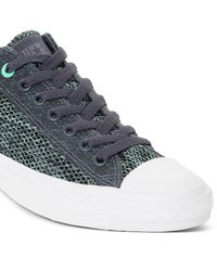 e01eff4ceb4f0c Lyst - Converse Ctas Crinkled Patent Leather Ox Trainers in Black ...