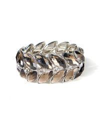 La Redoute - Metal And Crystal Bracelet - Lyst