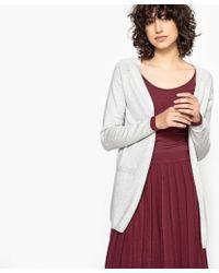 La Redoute - Buttoned V-neck Cardigan In Fine Gauge Knit - Lyst