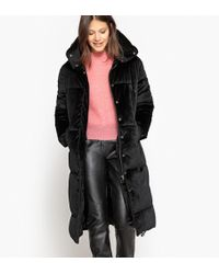 La Redoute - Velour Padded Coat - Lyst