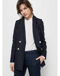 LA REDOUTE   Long Double-breasted Linen Jacket   Lyst