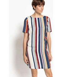 La Redoute - Striped Mini Shift Dress - Lyst