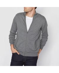 La Redoute - High Neck Zip-up Cotton Cardigan - Lyst