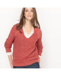 La Redoute - Sparkly Cotton V-neck Jumper/sweater - Lyst