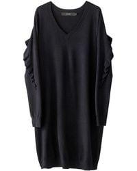 Vero Moda - Plain Midi Length Shift Dress - Lyst