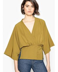 LA REDOUTE   Lightweight Belted Kimono-style Jacket With 3/4-length Sleeves   Lyst