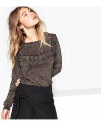La Redoute - Ruffled Metallic Jumper/sweater - Lyst