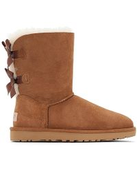 25b0ca4c6778 UGG - Bailey Bow Ii Fur-lined Sheepskin Ankle Boots - Lyst