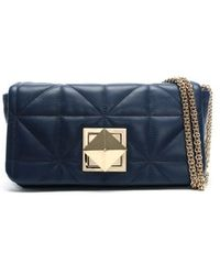 Sonia Rykiel - Le Copain Blue Leather Quilted Cross-body Bag - Lyst