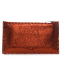 COACH - Zip Metallic Brick Sport Calf Leather Card Case - Lyst