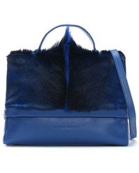 Sherene Melinda - Smith Medium Blue Leather Tote Bag - Lyst
