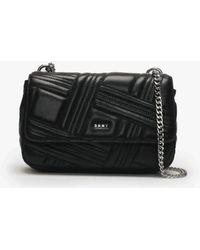 DKNY - Medium Allen Black Leather Quilted Shoulder Bag - Lyst