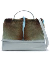 Sherene Melinda - Smith Medium Blue Leather Tote Bag - Lyst