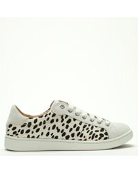 UGG - Milo Exotic White Calf Hair Lace Up Trainers - Lyst
