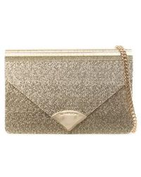 Michael Kors - Barbara Gold Metallic Envelope Clutch Bag - Lyst