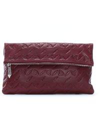 Vivienne Westwood - Canterbury Burgundy Leather Orb Embossed Clutch Bag - Lyst
