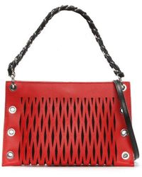 Sonia Rykiel - Baltard Red Leather Double Pouch - Lyst