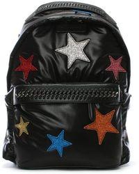 Stella McCartney - Falabella Glitter Stars Black Backpack - Lyst