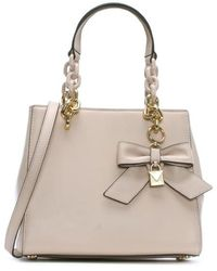 Michael Kors - Cynthia Soft Pink Leather Bow Satchel Bag - Lyst