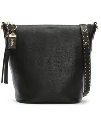 bf3d6e72e7 Coach Duffle Pebbled Leather Shoulder Bag in Black - Lyst
