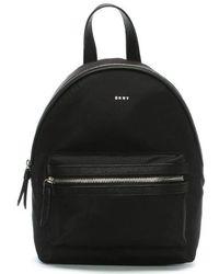 DKNY - Medium Black Nylon Backpack - Lyst