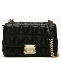 Michael Kors - Small Sloan Ii Black Quilted Leather Cross-body Bag - Lyst