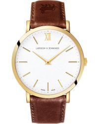 Larsson & Jennings - Ljxii Lugano Brown Leather 40mm - Lyst