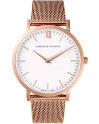 Larsson & Jennings - Lj Classic Lugano Milanese 40mm White - Lyst