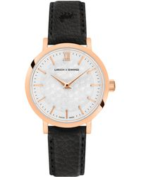 Larsson & Jennings - Sloan Cube Leather 26mm Rose Gold White - Lyst