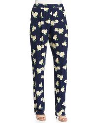 Michael Kors - Floral-print Pajama-style Pants - Lyst