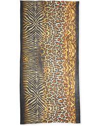Neiman Marcus - Mixed Animal-print Scarf - Lyst