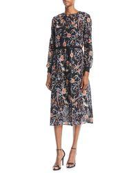Philosophy - Embroidered Tie-waist Midi Dress - Lyst