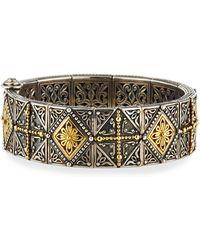 Konstantino - Ornate Hinged Cuff Bracelet W/ 18k Gold - Lyst