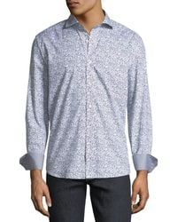 Bugatchi - Shaped-fit Scribble Sport Shirt - Lyst